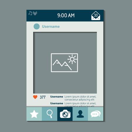 Social network photo frame vector illustration 일러스트