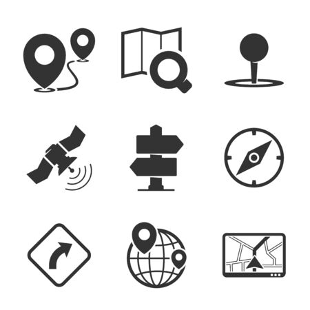 navigation icons: GPS and navigation icons
