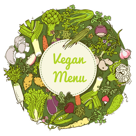 pattern with vegetables and herbs