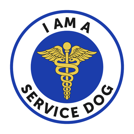 Service dog badge, sticker