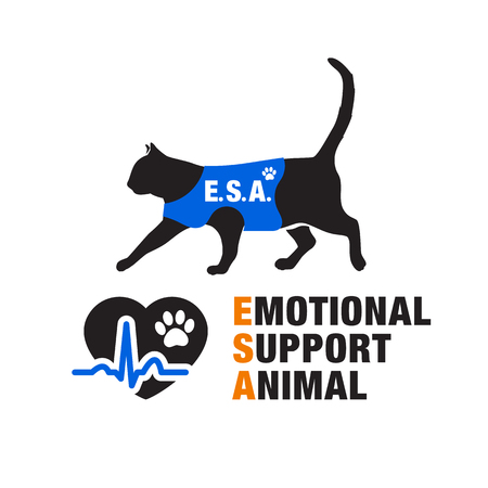 pet therapy: Emotional support animal emblems.