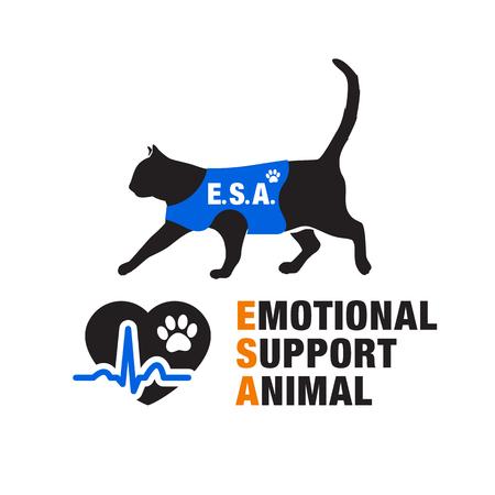 companionship: Emotional support animal emblems.
