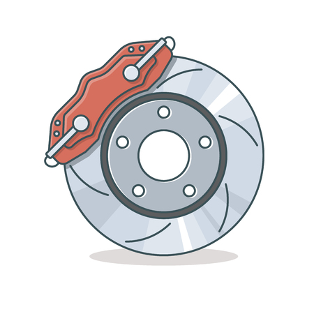 Brake disc icon Ilustração