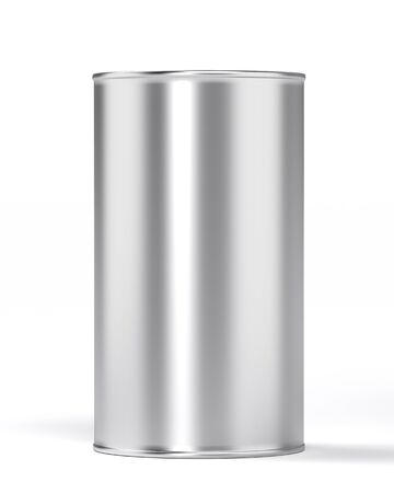 canned food: can isolated in white
