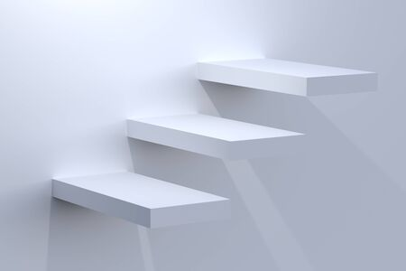 abstract cubes: Steps Stock Photo