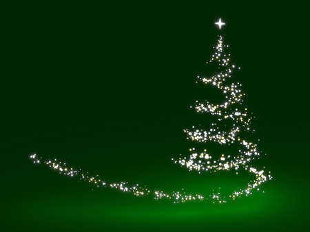 gold christmas background: Christmas tree