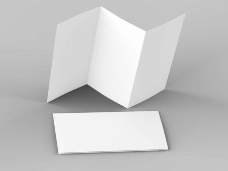 Ouvrir la brochure à trois volets au format A4 mockup.3d illustartion Banque d'images