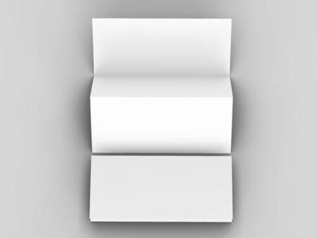 Brochure in A4 format folded to three - mockup. 3d illustration Stock fotó