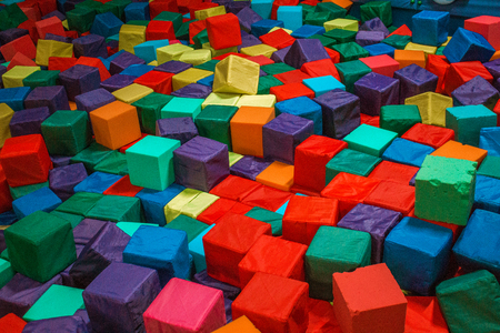 Multi-colored cubes in the children's center