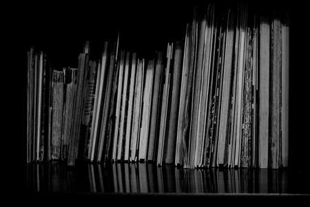 Books without cover end up on shelf Archivio Fotografico