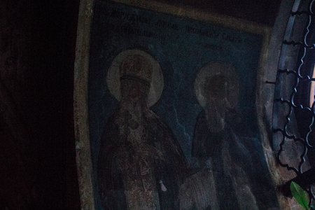 Tikhvin Assumption Monastery, Russian Orthodox, (Tikhvin, St. Petersburg, Russia, Autumn 2018) Archivio Fotografico