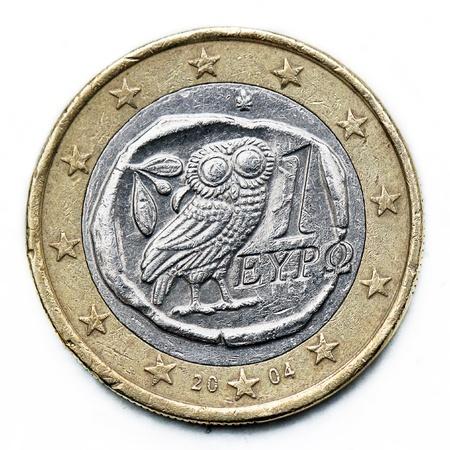 griekenland euromunt Stockfoto