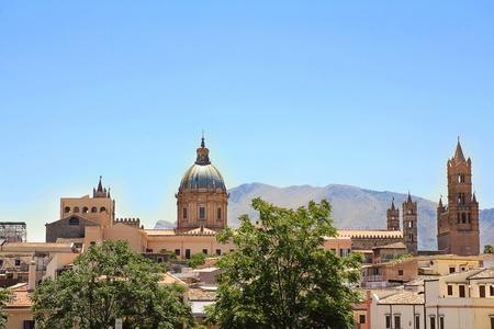 catholicity: Palermo cityscape Stock Photo