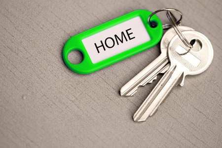 key fob: key fob home Stock Photo