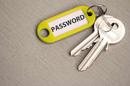 key with label password photo