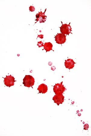 bloed druppeltjes Stockfoto