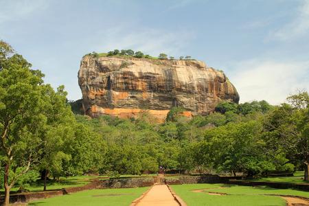 sigiriya: landscape of sigiriya mountain in sri lanka Stock Photo