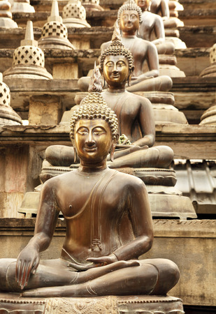 buddha in lotus position