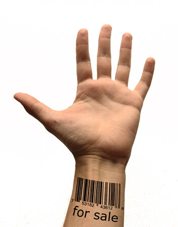 bar code on hand