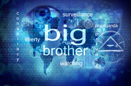 spy: big brother is watching you Stock Photo