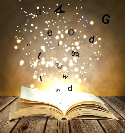 magische boek Stockfoto