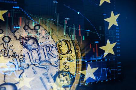 euro investeren begrip Stockfoto