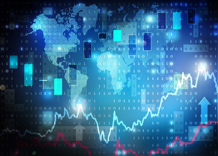 forex: candle chart Stock Photo