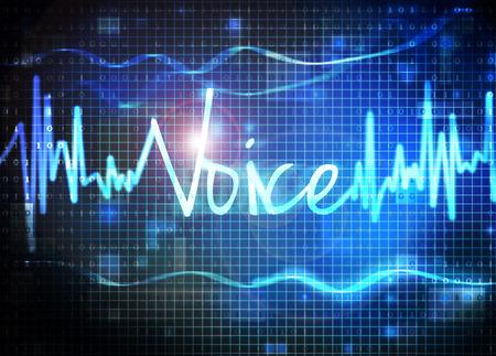 reconocimiento: reconocimiento de voz Foto de archivo