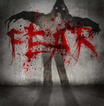fear: fear shadow Stock Photo
