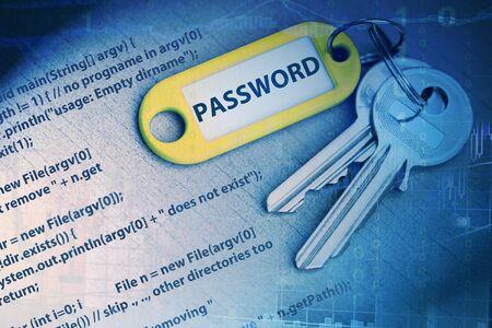 contraseña: password code Foto de archivo