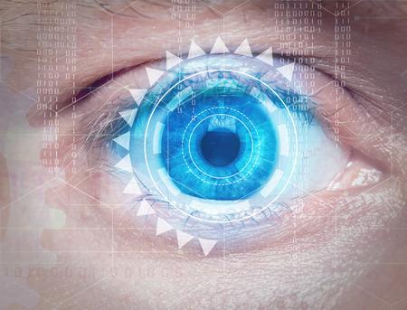 biometric: biometric eye scan Stock Photo