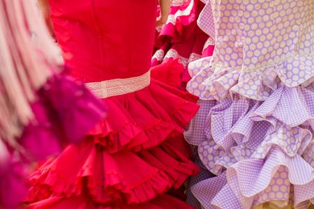 Rode vrouw flamenco kleding textuur