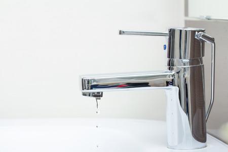 badkamer druipend water Stockfoto