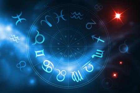 La rueda del zodiaco Foto de archivo - 69021331