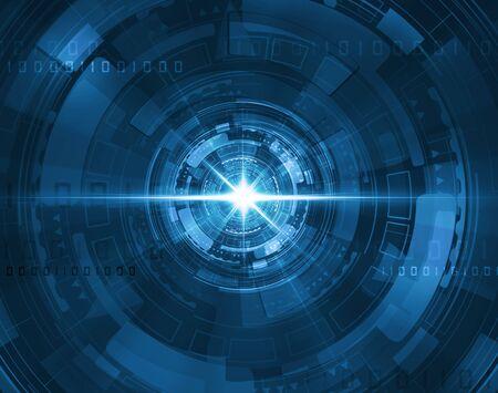 futuristic: futuristic blue tunnel