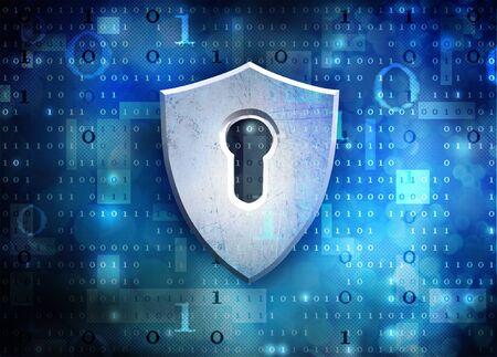 antivir shield Stock Photo