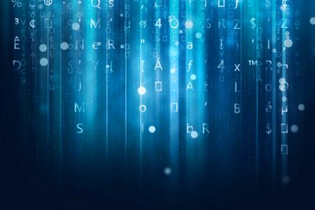 futurist: computer data stream background