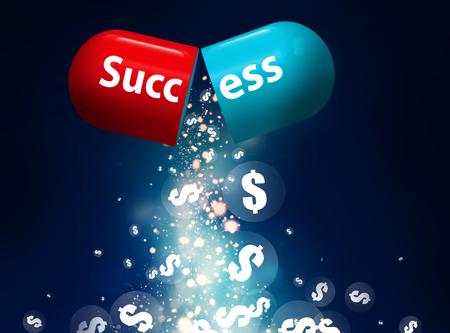 success pill Stock Photo