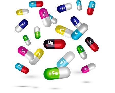 vitamin pills: vitamin pills illustration