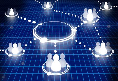 social network diagram Stock Photo