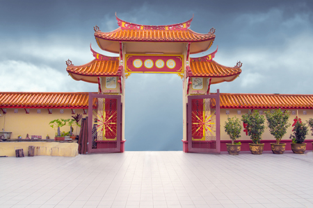 chinese buddhist temple gate