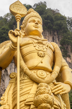 malaysia culture: huge vishnu statue in batu caves Stock Photo