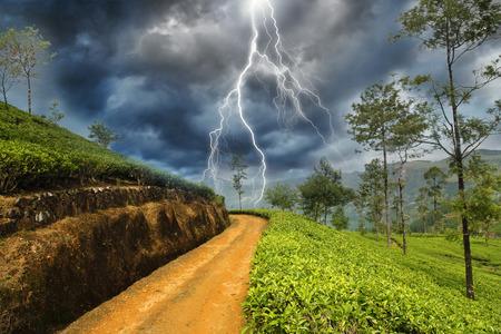 bliksemschicht in het land