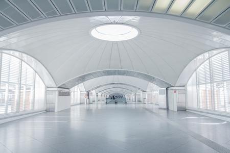 futuristic: futuristic terminal interior Stock Photo