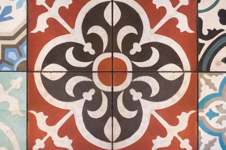closeup of portugal azulejo tile