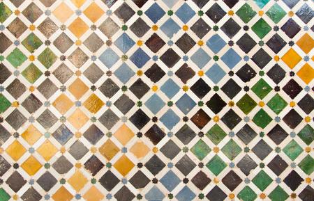 Kleurrijke tegel mozaïek achtergrond