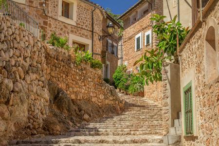 charming medieval street Stock Photo