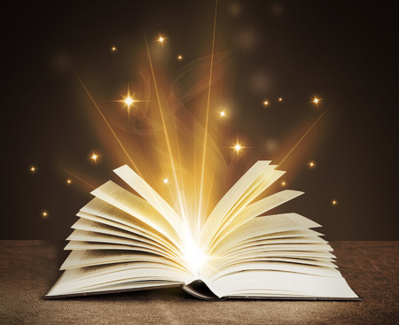 open magical book