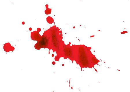 blood stain on white background