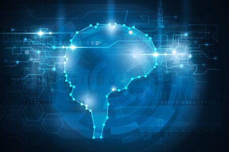 cyber brain Standard-Bild
